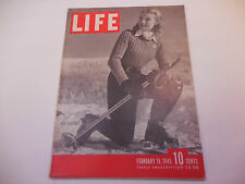 Life Magazine February 19.1945 Ski Clothes WWII Great Ads & Graphics