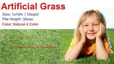 35mm 10 SQM Artificial Grass Synthetic Turf Flooring Fake Lawn Natural 4 Color