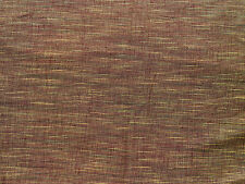 2 YDS Fabric Two Tone Cotton Brown Gold Variegated Stripe Home Decor Dressmaking