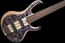 Ibanez BTB845 5 String Bass Guitar Poplar Burl Top Deep Twilight no case