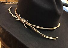 3mm HEAVIER GUS  BARB WIRE LEATHER WESTERN Lonesome Dove Style HANDMADE HAT BAND