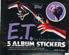 1982 Universal City E.T. (Movie) Album Sticker Packs(3)