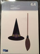 "Quickutz ""Hat & Broom"" Halloween 4x4 Die."