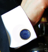 Pair of Egyptian Lapis Classic Men's 12 mm Cufflinks  Gives Strength & wisdom S