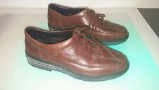 Rieker brown leather shoes size 6.5 women's good shape