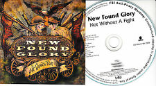 NEW FOUND GLORY Not Withoput A Fight UK 12trk numbered/watermarked promo test CD
