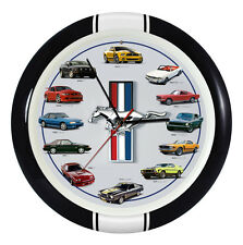 "Wall Clock 13"" Ford Mustang With Engine Sounds"
