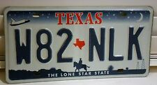 American TEXAS Car Registration Licence Number Plate W82 NLK