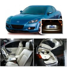 For Mazda RX8 2004-2014 Xenon White LED Interior kit + White License Light LED