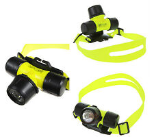 TORCIA FRONTALE SUBACQUEA IMPERMEABILE CREE LED WATERPROOF SUB LUCE DIVING ABS