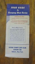 Your Guide To Emergency Road Service Brochure 50's-60's Cayuga County Auburn NY