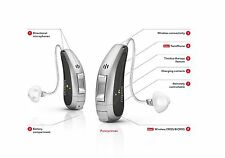 2PC New Siemens Signia Cellion 7px Rechargeable Hearing Aids Silver