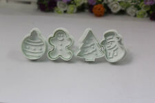 Lovely Christmas Snowman Fondant Cake Mold Biscuit Cookie Plunger Cutters