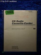 Sony Bedienungsanleitung CFD E75 / E75L Cassette Corder (#3585)
