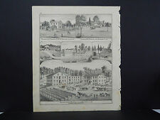 Indiana, Montgomery County Engravings, 1878 One Double Sided Page! #3