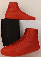 NIB GIVENCHY RED LEATHER URBAN KNOTS HI TOP TRAINER SNEAKERS 46 13