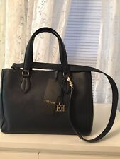 Escada New Navy Leather Shoulder Bag Italy $795.00
