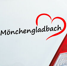 Car decal Mönchengladbach approx. 19,5x8cm Heart City car Sticker Decal 760