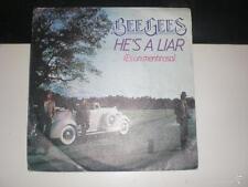 SINGLE BEE GEES - HE'S A LIAR - RSO SPAIN 1981 VG+