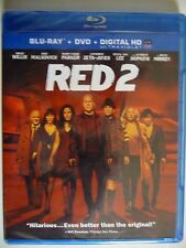 NEW/SEALED - RED 2 (Blu-ray/DVD, 2013, 2-Disc Set, Includes HD UltraViolet)