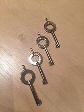 Genuine Ex Police Handcuff Key. Key For Hiatt Standard Cuffs. x 4.
