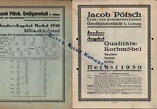 GROßGARNSTADT, Prospekt 1930, Jacob Pötsch Korb- und Rohr-Möbel-Fabrik