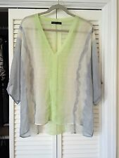 GYPSY 05 Sheer Multi Water Color Oversized Blouse - Size S