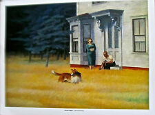 "Edward Hopper Poster of Cape Cod Evening "" MAN, WOMAN, AND DOG IN HIGH GRASS."