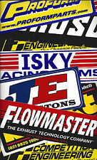 Moroso Dart Flowmaster Mancave NASCAR 16 Race Car Size Decals Stickers Tool Box