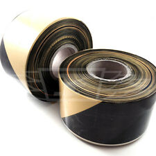 500 METRE HAZARD WARNING TAPE - PREMIUM BARRIER QUALITY - BLACK & YELLOW