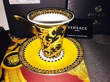 VERSACE BAROCCO CUP SAUCER SET ROSENTHAL  NEW IN BOX 300$ SALE
