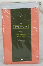 JCPenney 325 Thread Count STQN Pillowcases - 100% Egyptian Cotton Sateen - Coral