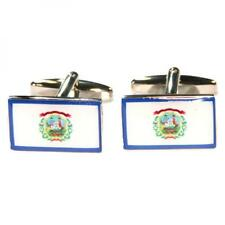 West Virginia State Flag Cufflinks Eastern Woodland Indian Present Gift Box