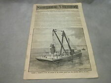 Scientific American November 8 1890 Hudson River Steam Yacht Engine Torfrida
