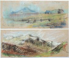 Elspeth Buchanan (1915-2011) 2 x small mountainous landscape grahite drawings