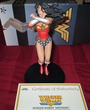 """Wonder Woman """"The Defender"""" Gamestop exclusive collectible statue paperweight !!"""