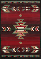 "Southwest Modern Area Rug 8x11 Black Rustic Lodge - Actual 7' 9"" x 10' 8"""