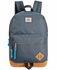 $125 Steve Madden MENS BLUE BROWN BRIEFCASE BACKPACK WORK TRAVEL SCHOOL BAG