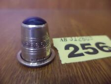 Vintage Solid Silver Thimble with Blue John Stone Top - D.S.W / 1994 / Sheffield