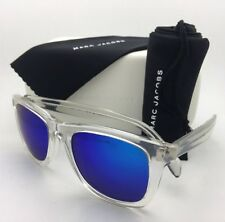 MARC By MARC JACOBS Sunglasses MMJ 335/S CRAZ0 Clear Wayfarer w/Blue Mirror Lens