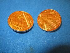 """Gulco Bicycle Round Yellow Reflector Diameter 2-1/4"""" With Medal Back - Set of 2"""