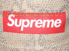 Supreme Box Logo Suede Camp 5 Panel Cap Snakeskin Military SB Adjustable