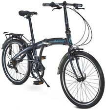 24' Durban Bikes One XL Folding Bike, Black