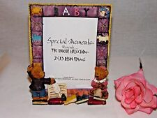 WHIMSICAL ~ TEDDY BEAR RESIN PICTURE FRAME ~ BABY THEME ~  3½ x 5 PHOTO