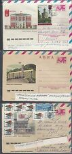 jThree Russian Letter sheets various Issues. Covers,  087
