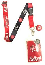 RED FALLOUT NUKA COLA BOTTLE CAP CHARM LOGO LANYARD BADGE ID HOLDER KEYCHAIN NWT