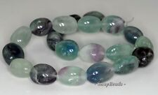 25X17MM  FLUORITE GEMSTONE NUGGET LOOSE BEADS 7.5""