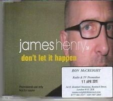 (BM402) James Henry, Don't Let It Happen - 2011 DJ CD