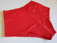 NEW VINTAGE High Cut Wet Silky Shiny Spandex Shorts Panties Lingerie - One Size