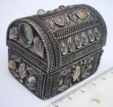 HANDMADE CHEST,DECORATIVE TIN BOX,METAL CASE LOCKER,ARK